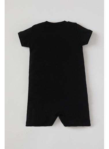 DeFacto Erkek Bebek Batman Lisanlı Kısa Kol Tulum Siyah